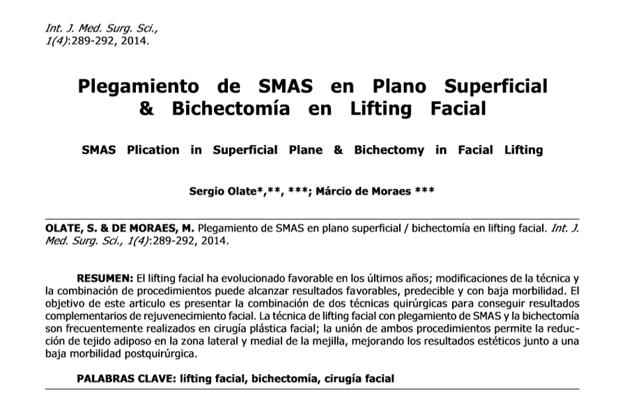 Plegamiento de SMAS en Plano Superficial & Bichectomía en Lifting Facial
